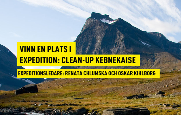Vinn en plats i Expedition: Clean-Up Kebnekaise